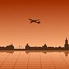 Векторный клипарт: городского пейзажа Варшавы