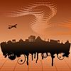 Векторный клипарт: городской пейзаж Рима