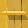 Vector clipart: Wooden shelf