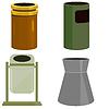 Vector clipart: Recycling Bin