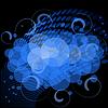 Векторный клипарт: синий абстрактный фон