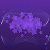 violet abstract background with stars
