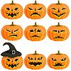 Векторный клипарт: набор тыкв для Хэллоуина