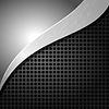 Векторный клипарт: металлический фон с отверстиями и ва