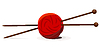 Vector clipart: wool ball and knitting needles