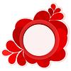 Векторный клипарт: фон с красными каплями
