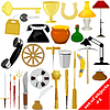 Set of objects | Stock Vector Graphics