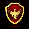 Vector clipart: red shield with eagle and crown