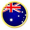 Vector clipart: button with flag Australia
