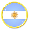 Vector clipart: button with flag Argentina