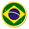 Vector clipart: button with flag Brazil