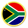 Vector clipart: button with flag South Africa