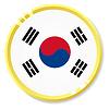 Vector clipart: button with flag Republic of Korea