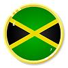 Vector clipart: button with flag Jamaica