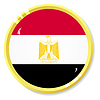 Vector clipart: button with flag Egypt