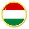 Vector clipart: button with flag Hungary