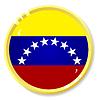 Vector clipart: button with flag Venezuela