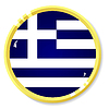 Vector clipart: button with flag Greece