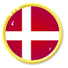 Vector clipart: button with flag Denmark