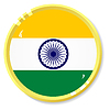 button with flag India