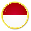 Vector clipart: button with flag Indonesia