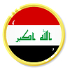 Vector clipart: button with flag Iraq