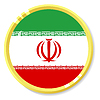 Vector clipart: button with flag Iran