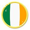 Vector clipart: button with flag Ireland