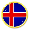 Vector clipart: button with flag Iceland