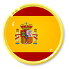 Vector clipart: button with flag Spain