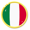button with flag Italy