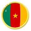 Vector clipart: button with flag Cameroon