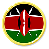 Vector clipart: button with flag Kenya