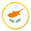 Vector clipart: button with flag Cyprus