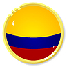 Vector clipart: button with flag Colombia