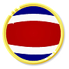 Vector clipart: button with flag Costa Rica