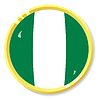 Vector clipart: button with flag Nigeria