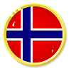 Vector clipart: button with flag Norway