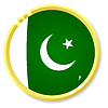 Vector clipart: button with flag Pakistan