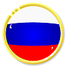 Vector clipart: button with flag Russia