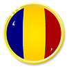 Vector clipart: button with flag Romania