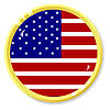 Vector clipart: button with flag United States