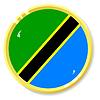 button with flag Tanzania