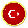 Vector clipart: button with flag Turkey