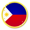 Vector clipart: button with flag Philippines