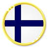 Vector clipart: button with flag Finland