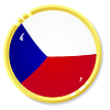 Vector clipart: button with flag Czech