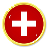 Vector clipart: button with flag Switzerland