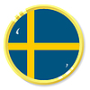 Vector clipart: button with flag Sweden