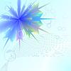 Фон синий цветок